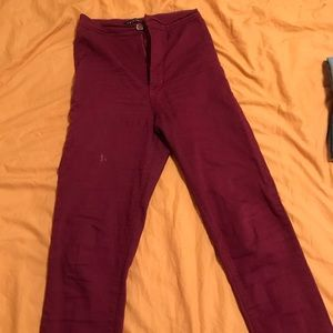 Burgundy fashion nova high waisted pants
